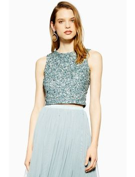 **Embellished Top By Lace & Beads by Topshop