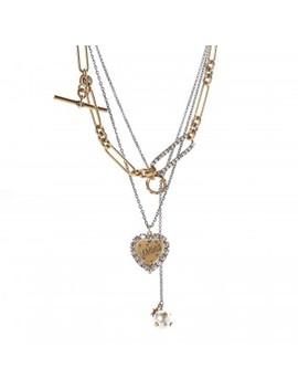 Christian Dior Metal Heart J'adior Multi Strand Necklace Aged Gold by Christian Dior