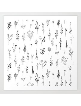 Wildflowers Art Print by Society6
