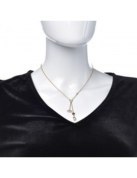 Christian Dior Crystal Star Cd Shiny D Short Necklace Gold by Christian Dior