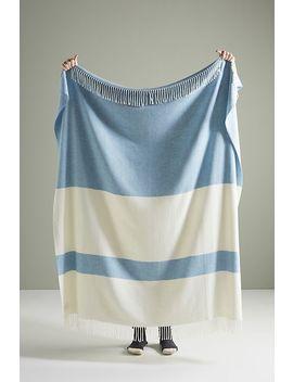 Sydney Herringbone Stripe Throw Blanket by Lands Downunder