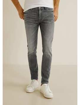 Jeans Jude Skinny Com Lavagem Cinzento Clara by Mango