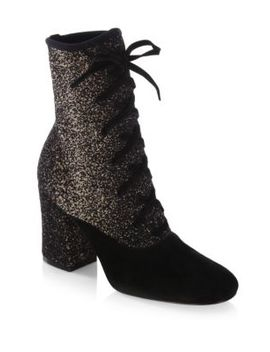 Knit Lace Booties by Gianvito Rossi