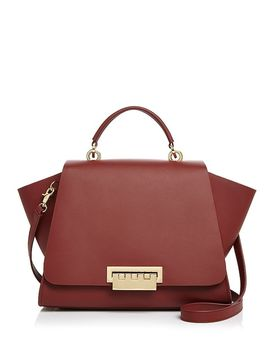 Eartha Iconic Soft Top Handle Large Leather Satchel by Zac Zac Posen