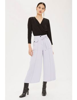 Contrast Stitch Trousers by Topshop