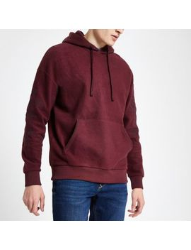 Jack & Jones Red Embroidered Hoodie by River Island
