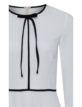 Crepe Midi Elegant Dress by Carolina Cavour