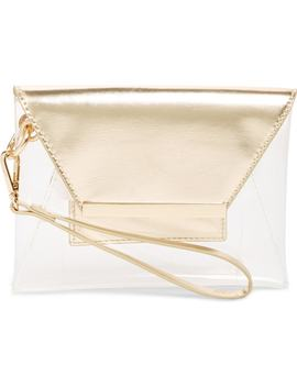 Transparent Wristlet Clutch by Leith