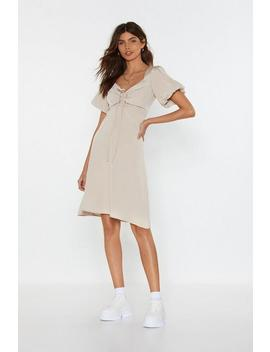 Peasent Neck Line Mini Dress by Nasty Gal