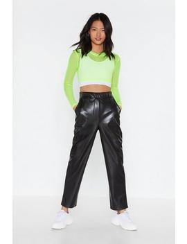 Hey Tonight Faux Leather Joggers by Nasty Gal
