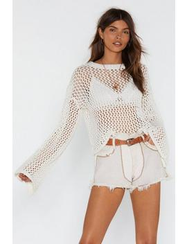 Open Off My Love Open Knit Sweater by Nasty Gal
