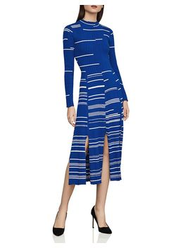 Striped Ribbed Sweater Dress by Bcbgmaxazria