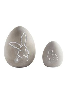 Cement Easter Egg With Bunny by Pier1 Imports