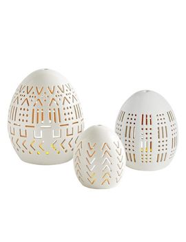 Porcelain Egg Tealight Candle Holders by Pier1 Imports