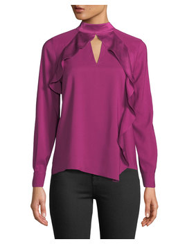Cianni Draped Ruffle Combo Top by Parker