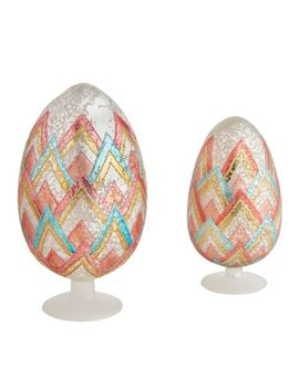 Patterned Glass Easter Egg Finials by Pier1 Imports