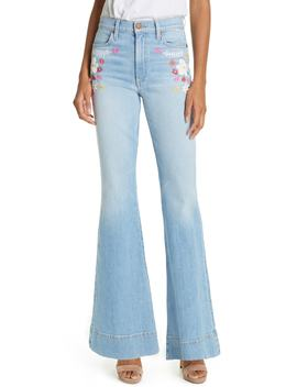 Beautiful High Waist Bell Bottom Jeans by Alice + Olivia Jeans