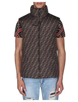Men's Reversible Down Quilted Vest by Fendi