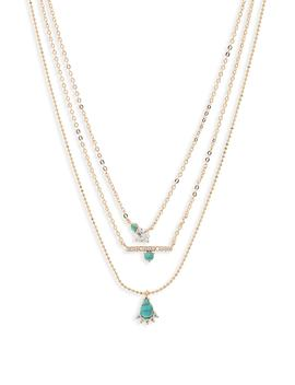 Stone & Crystal Layered Pendant Necklace by Nordstrom
