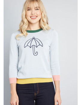 Weather Permitting Umbrella Sweater by Modcloth