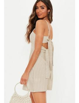 Nude Tie Back Cami Shift Dress by Missguided