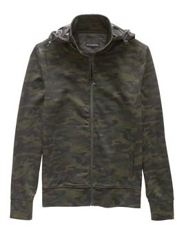 Camouflage Track Jacket by Banana Repbulic