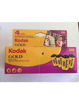 Kodak Gold Film 4 Rolls 24 Exposure 35mm Film Iso 200 Speed by Kodak