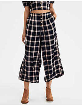 Ae Button Front Wide Leg Pant by American Eagle Outfitters