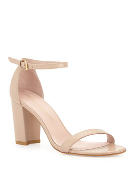 Nearlynude Leather City Sandals by Stuart Weitzman