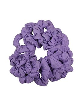 12 Pack Solid Hair Ties Scrunchies   Lavender by Motique Accessories