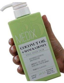 Medix 5.5 Coconut Oil Cream And Manuka Honey. Moisturizing Repair Cream Rehydrates Skin. Great For Scar And Stretch Marks. (Two   15oz) by Medix 5.5