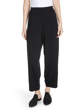 Terry Lantern High Rise Ankle Pants by Eileen Fisher