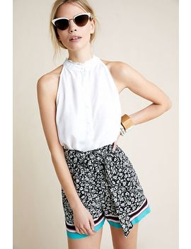 Scarf Printed Shorts by Maeve