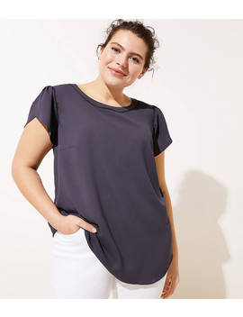 Loft Plus Tulip Sleeve Button Back Top by Loft