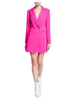One Button Long Sleeve Blazer Mini Dress by Jay Godfrey