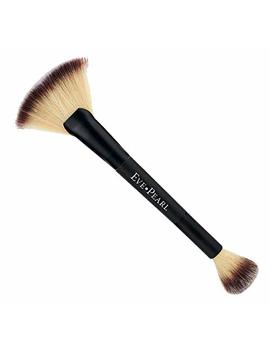 Eve Pearl Dual Brush Crease Blender Fan Highlighter Blush Contour Hypoallergenic Synthetic Easy Control And Blend Makeup Brushes (204 Fan Highlighter) by Eve Pearl