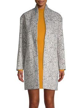 Leopard Print Open Front Coat by Miss Selfridge