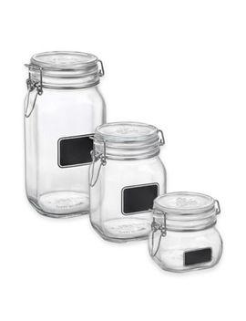 Bormioli Rocco Fido Square Chalk Label Jar by Bed Bath And Beyond