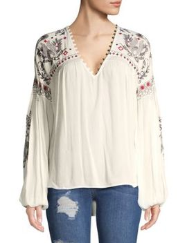 Embroidered High Low Top by Free People