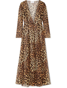 Leopard Print Silk Chiffon Robe by We Are Leone