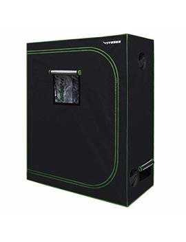 """Vivosun 48""""X24""""X60"""" Mylar Hydroponic Grow Tent With Observation Window And Floor Tray For Indoor Plant Growing 2'x4' by Vivosun"""