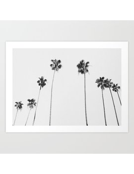 Black & White Palms Art Print by Society6