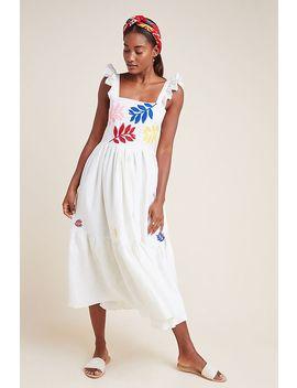 Carolina K Embroidered Linen Dress by Carolina K