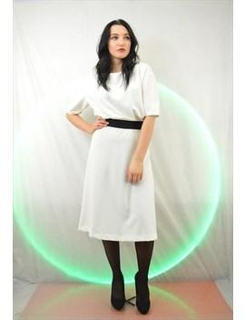 Vintage Retro White Dress by Hanger Fashion