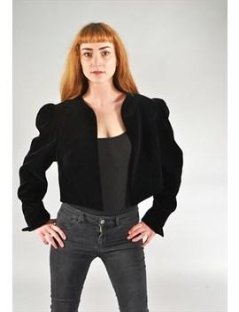 Vintage Velvet Bolero Jacket Black by Brag Vintage