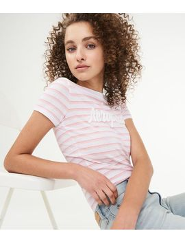 Striped Aeropostale Graphic Tee by Aeropostale