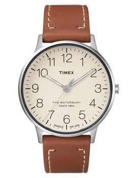 Waterbury Classic Leather Strap Watch, 40mm by Timex®