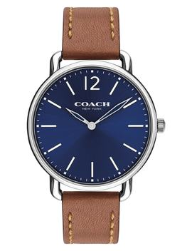 Delancey Leather Strap Watch, 40mm by Coach