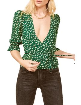 Emma Wrap Blouse by Reformation