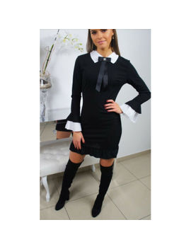 Sexy Women Long Sleeve Bodycon Casual Party Evening Cocktail Mini Dress Bow Tie by Unbranded